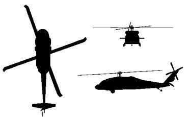 Uh 60 blackhawk clipart