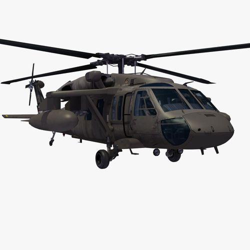 Uh 60 blackhawk clipart clip freeuse library UH60 Blackhawk Helicopter 3D Model MAX OBJ 3DS FBX LWO LW LWS HRC ... clip freeuse library