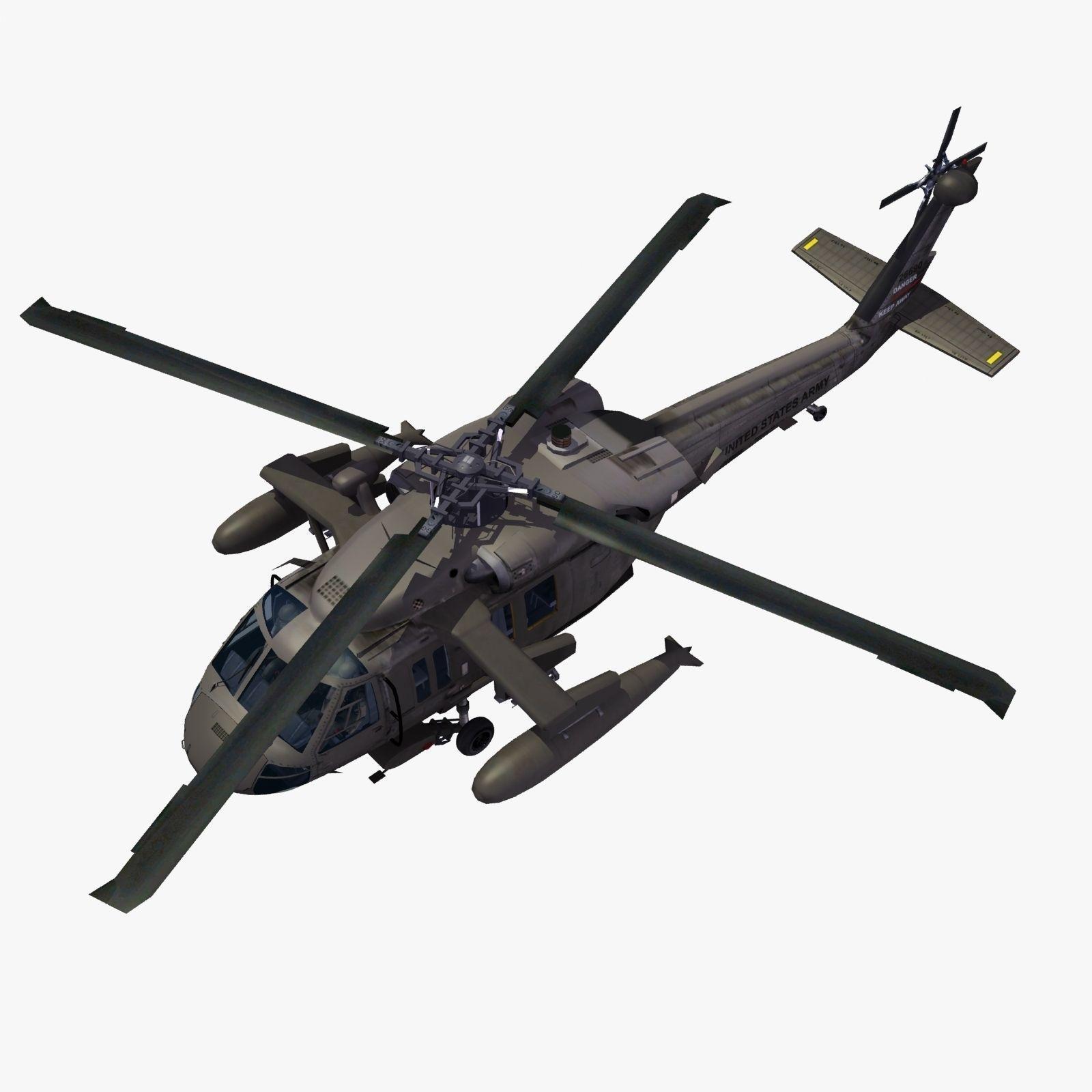 Uh 60 blackhawk clipart clip art transparent library UH60 Blackhawk Helicopter 3D Model MAX OBJ 3DS FBX LWO LW LWS HRC ... clip art transparent library