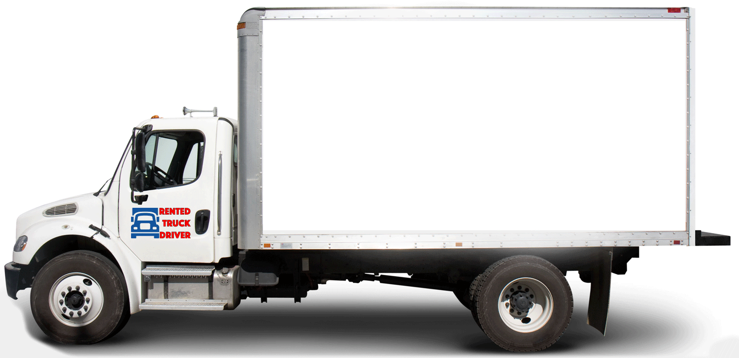 Uhalu moving van clipart black freeuse library Truck Drivers for Hire - We Drive Your Rental Truck Anywhere ... freeuse library