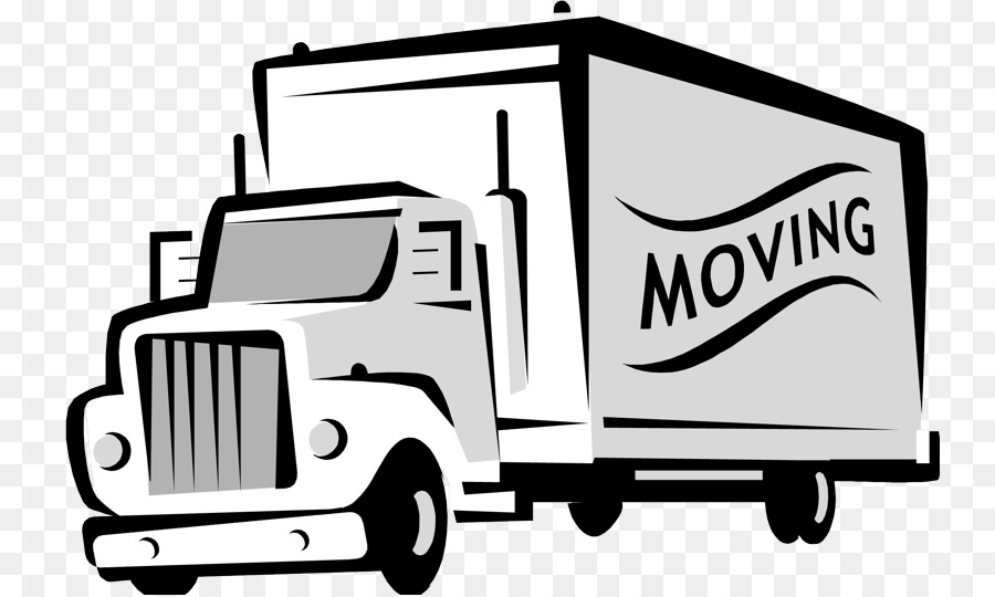 Uhalu moving van clipart black clipart black and white stock Man Cartoon png download - 800*538 - Free Transparent MOVER ... clipart black and white stock