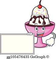 Uimportant sundays clipart png transparent Ice Cream Sundae Clip Art - Royalty Free - GoGraph png transparent