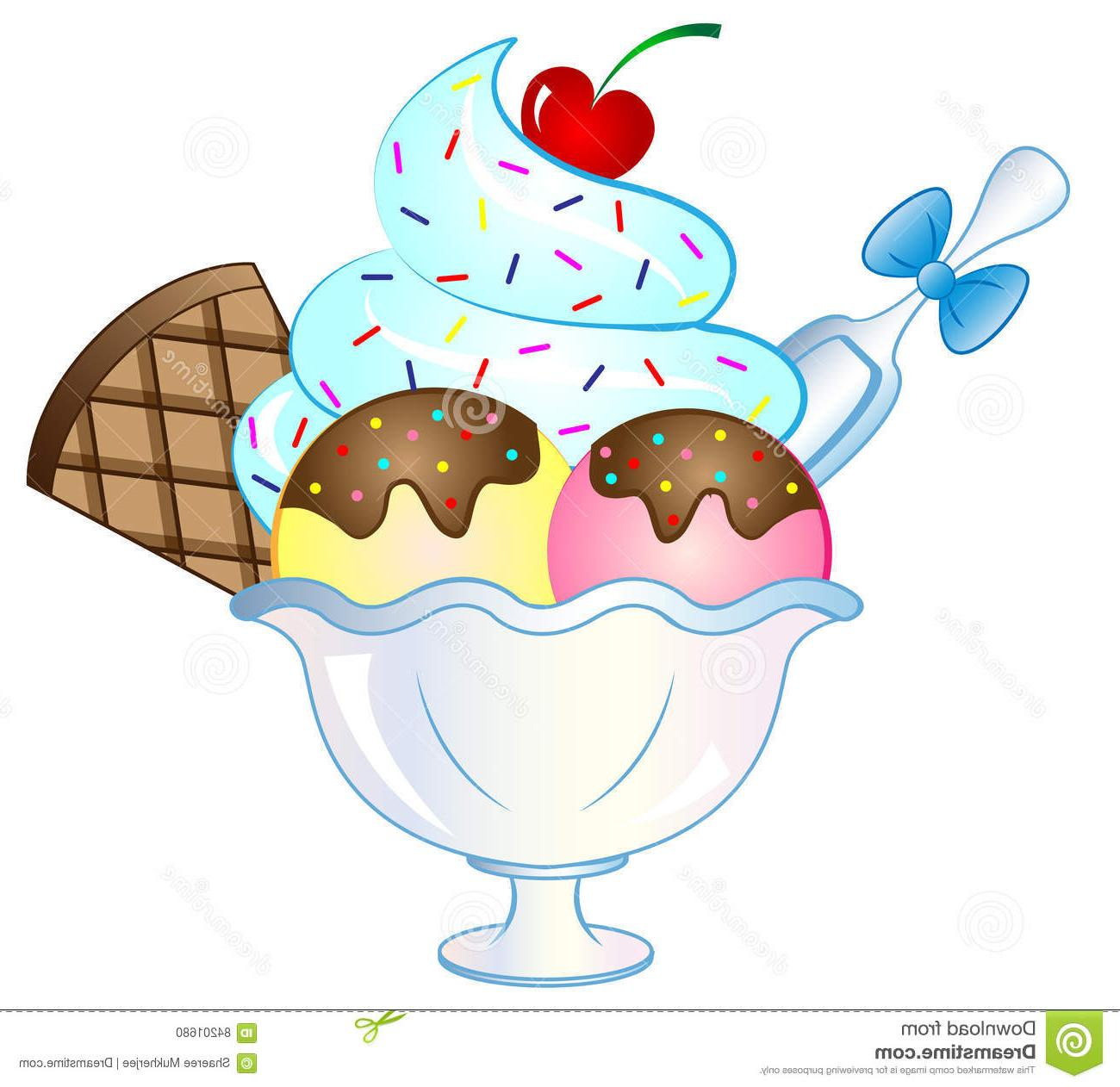 Uimportant sundays clipart freeuse library Unique Ice Cream Sundae Vector Photos » Free Vector Art ... freeuse library
