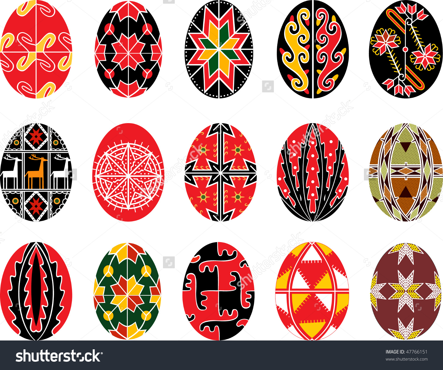 Ukranian easter egg clipart clip royalty free stock Vector Set Authentic Ukrainian Easter Eggs Stock Vector 47766151 ... clip royalty free stock