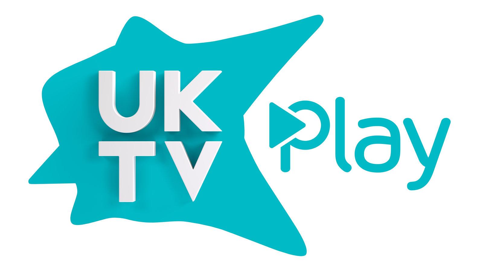 Uktv logo clipart banner black and white stock UKTV Play banner black and white stock