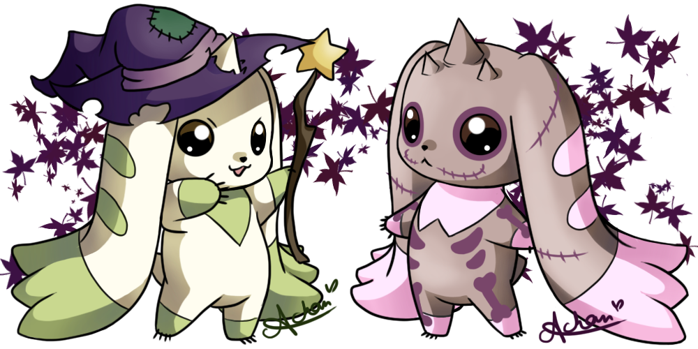 Ukulele anime rock star scientists clipart clip freeuse stock Halloween Terriermon and Lopmon by uke-a-chan.deviantart.com on ... clip freeuse stock