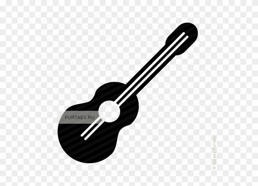 Ukulele clipart vector vector black and white stock Ukulele Vector Black And White Vector Royalty Free - Guitar ... vector black and white stock