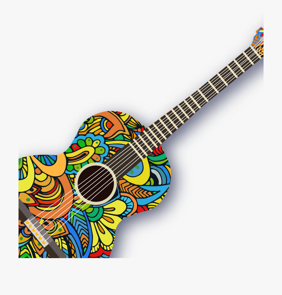 Ukulele clipart vector vector transparent Ukulele Pattern Creative Guitar Vector Acoustic - Guitar ... vector transparent