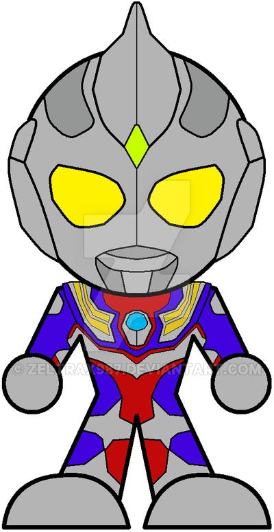 Ultraman tiga clipart freeuse library Chibi Ultraman Tiga by Zeltrax987 on DeviantArt freeuse library