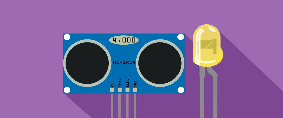 Ultrasonic sensor clipart vector free Project Example 7: Controlling LEDs with an Ultrasonic ... vector free