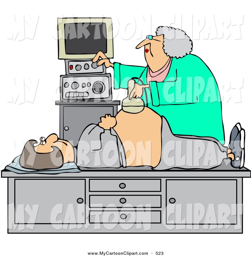 Ultrasound technician clipart svg download Clip Art of an Elderly Ultrasound Technician Taking a ... svg download