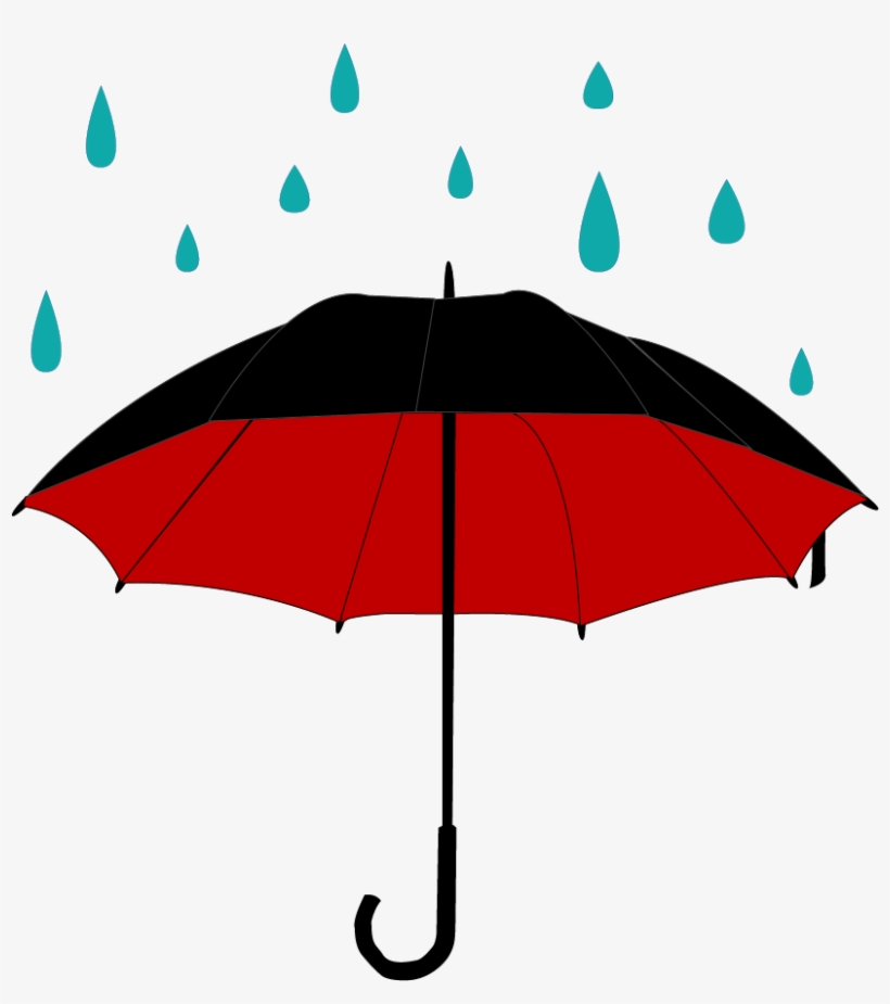 Umbrella and rain clipart png black and white stock Rain Umbrella Png (+) - Free Download | fourjay.org png black and white stock