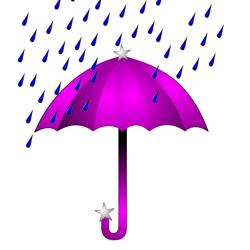 Umbrella and rain clipart image transparent Umbrella with rain clipart 2 » Clipart Portal image transparent