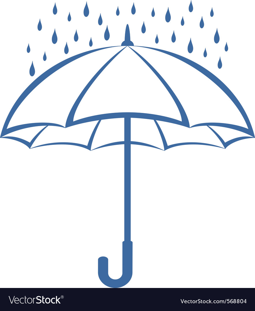 Umbrella and rain clipart vector clip art Umbrella and rain clip art