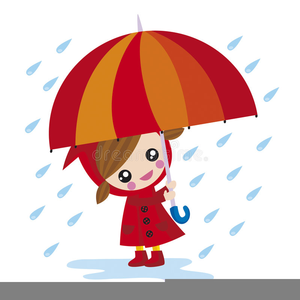 Umbrella and rain clipart vector svg black and white stock Girl With Umbrella In Rain Clipart | Free Images at Clker ... svg black and white stock