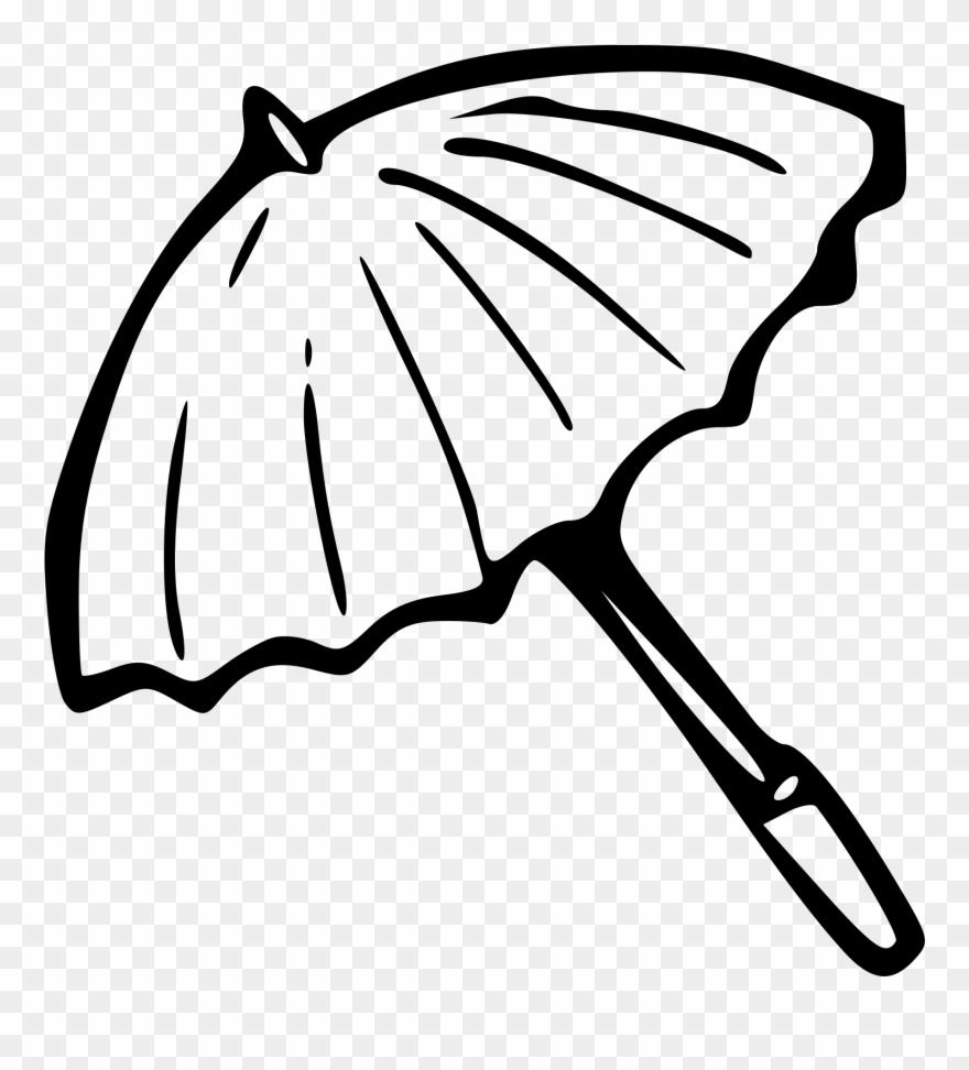 Umbrella clipart bblack and white vector freeuse stock Umbrella Black And White Beach Umbrella Clipart Black ... vector freeuse stock