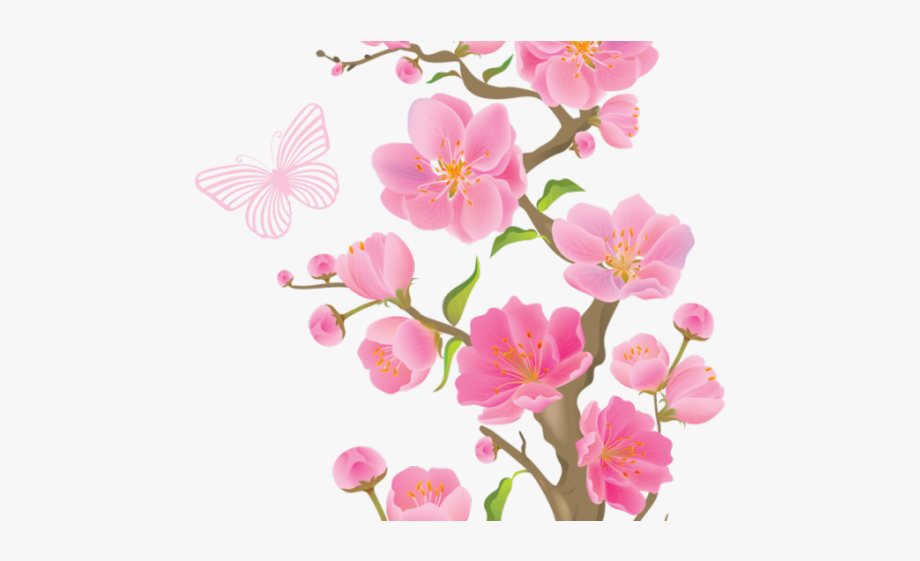 Ume flowers clipart picture library library Ume Tree Clipart Butterfly - Clipart Transparent Background ... picture library library
