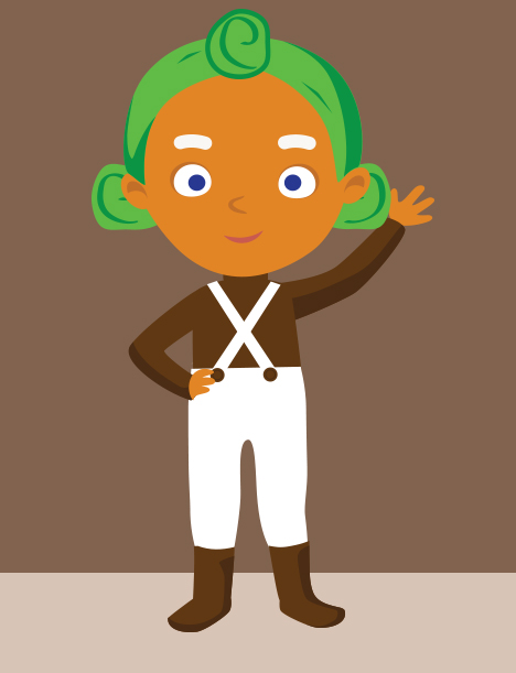 Umpa lumpa charlie and the chocolate factory cartoon clipart picture black and white stock The Oompa Loompa Song - Kids Environment Kids Health ... picture black and white stock