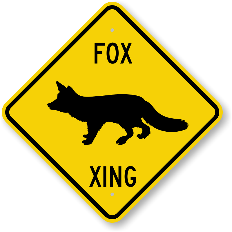 Unbeatable clipart picture free Fox Xing Sign - Animal Crossing Signs | Unbeatable Prices ... picture free