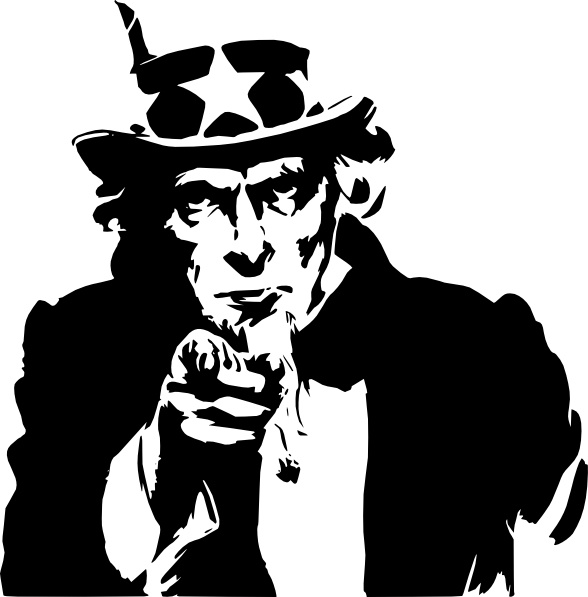 Uncle sam pointing finger clipart library Uncle Sam Pointing clip art Free vector in Open office ... library