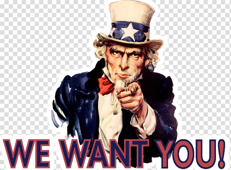 Uncle sam wants you clipart vector free library Uncle Sam with we want you typed text, James Montgomery ... vector free library