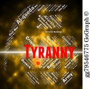 Undemocratic clipart clipart library stock Stock Illustration - Tyranny word represents reign of terror ... clipart library stock