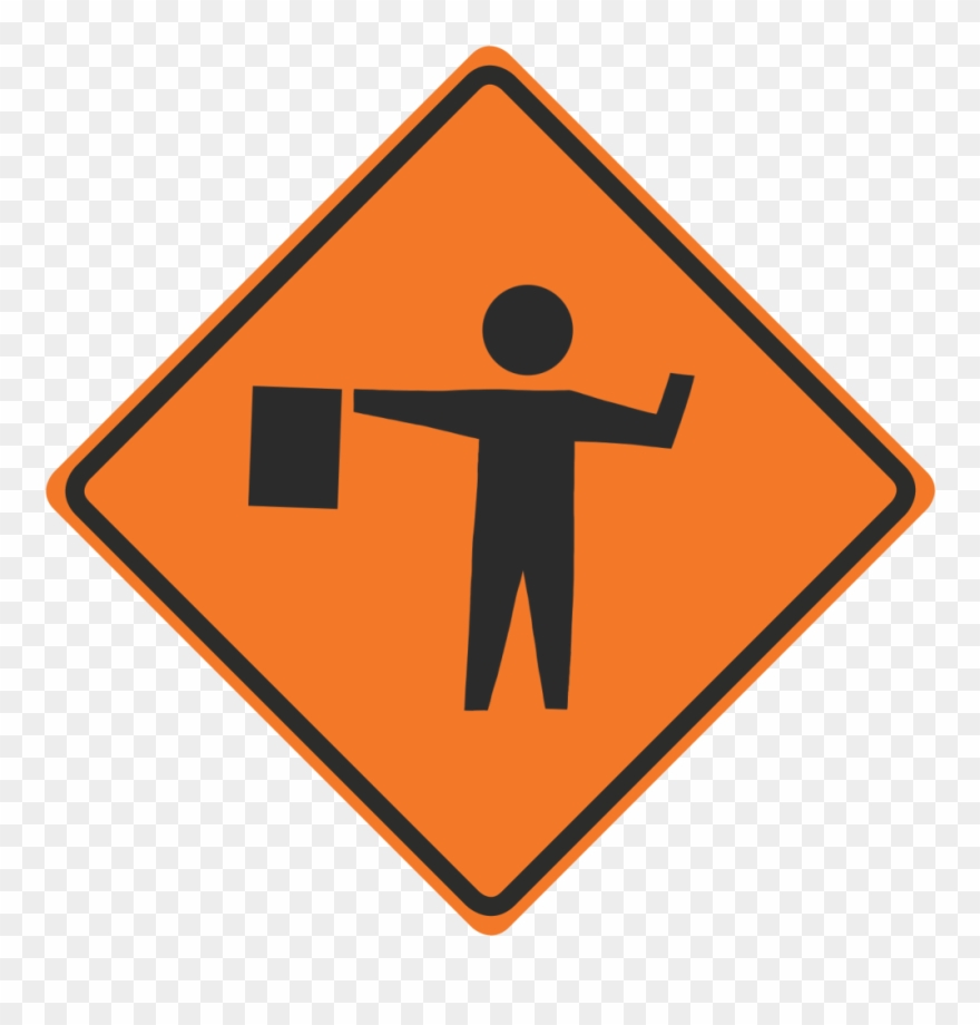 Under construction sign clipart orange clip freeuse library Flagger-banner - Construction Flagger Sign Clipart (#4850389 ... clip freeuse library