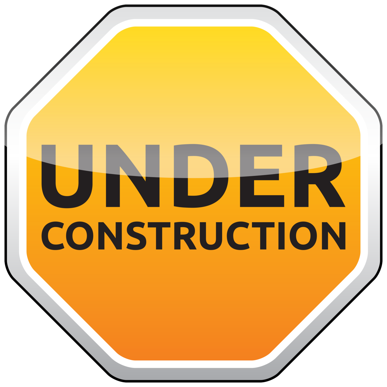 Under construction sign clipart orange picture black and white download Under Construction Sign PNG Clipart picture black and white download
