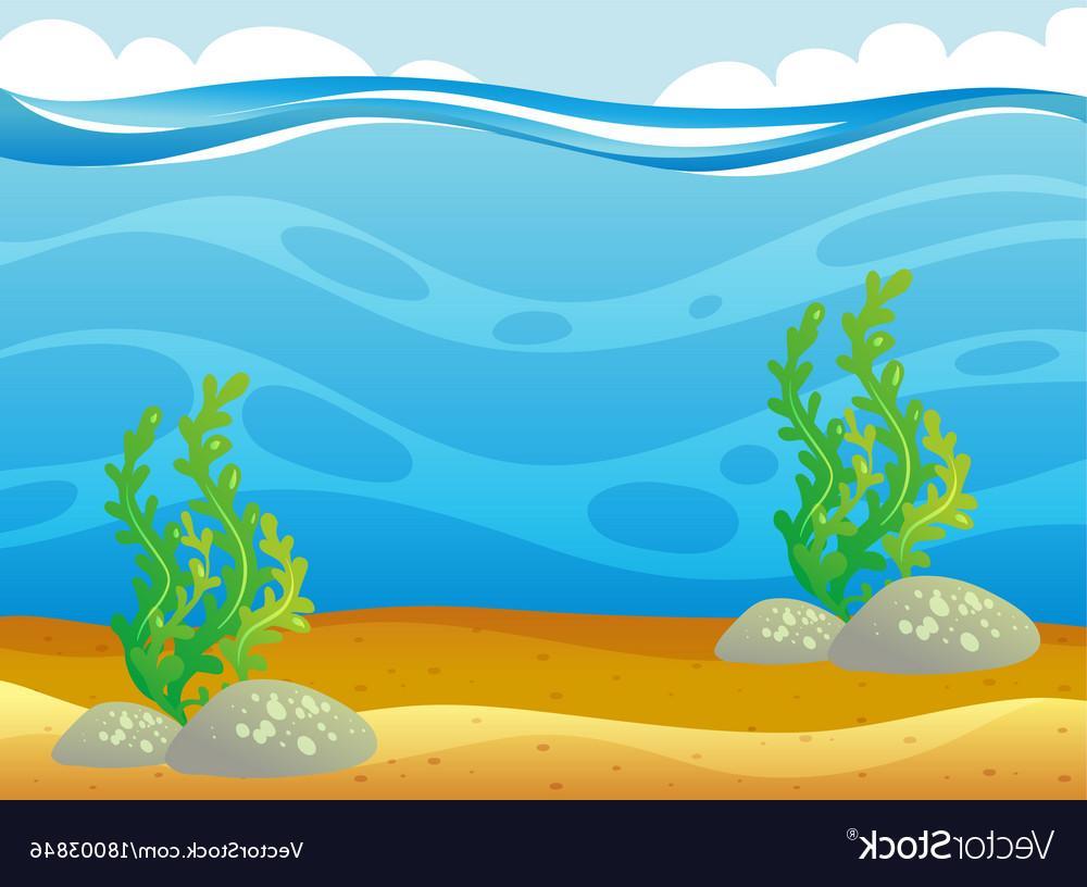 Under ocean clipart picture Best Cartoon Underwater Ocean Scene Vector Library » Free ... picture