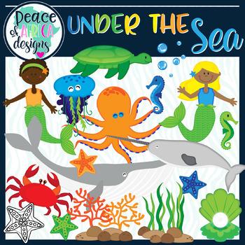 Under ocean clipart clip royalty free stock Under the Sea Ocean Animals Clip Art clip royalty free stock