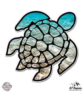 Under the ocean clipart and sea turtle banner library library GT Graphics Sea Turtle Beach Ocean - Vinyl Sticker Waterproof Decal banner library library