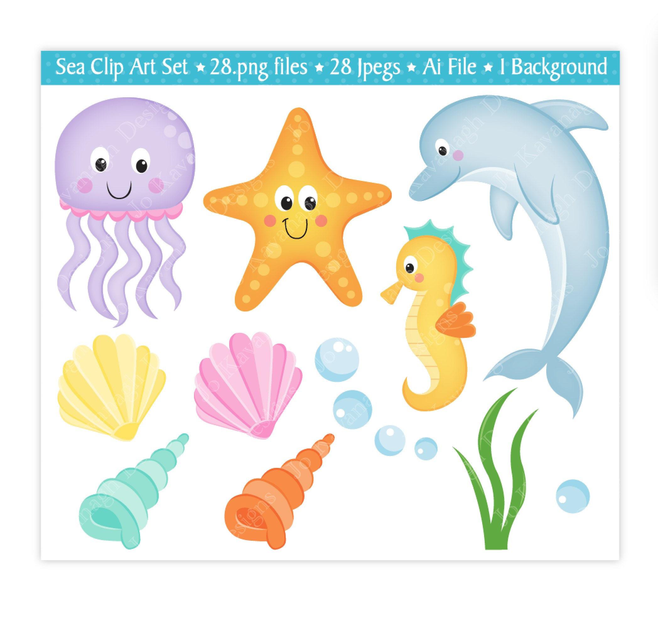 Under the sea animals clipart clip art transparent download Under The Sea Clipart   Free download best Under The Sea ... clip art transparent download