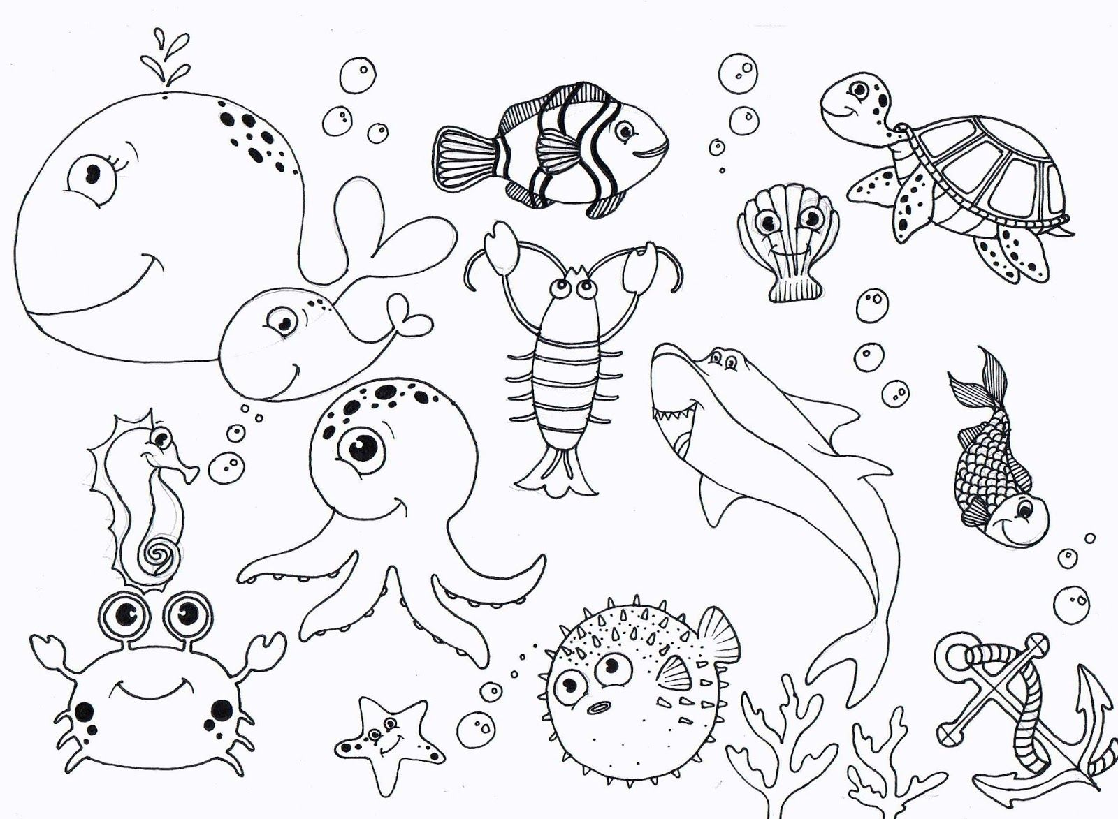 Under the sea clipart coloring freeuse stock Free Printable Ocean Coloring Pages   coloring pages under ... freeuse stock