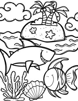 Creative clips clipart coloring pages clip art free download FREE Ocean Animals Coloring Book {Made by Creative Clips ... clip art free download