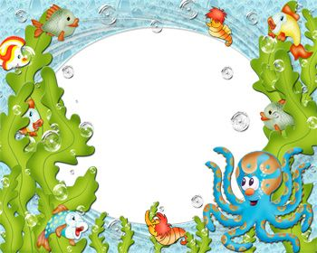 Ocean scroll frame clipart ocean jpg library download under the sea cartoon pictures | Under the Sea Frame Theme ... jpg library download