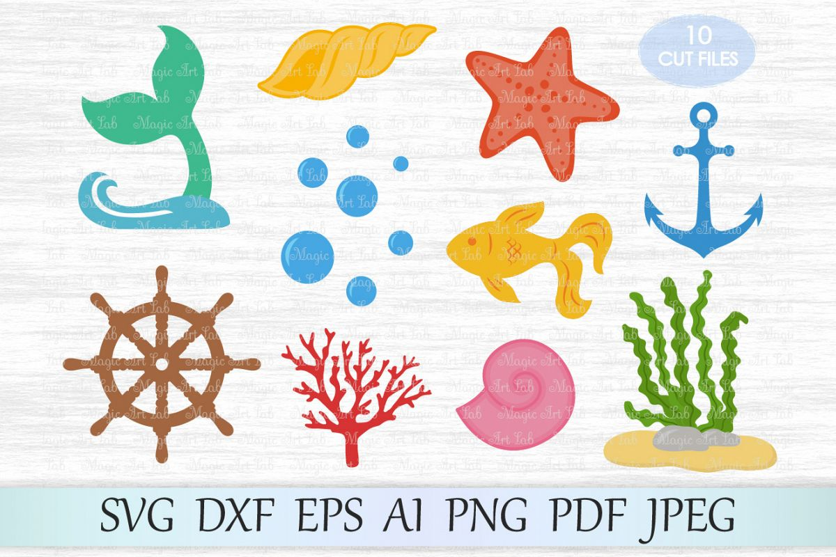 Under the sea seaweed clipart picture black and white Under the sea svg file, Uderwater bundle svg, Handwheel svg, Bubbles svg,  Sea clipart, Seaweed svg, Fish svg, Coral cut file, Starfish svg picture black and white