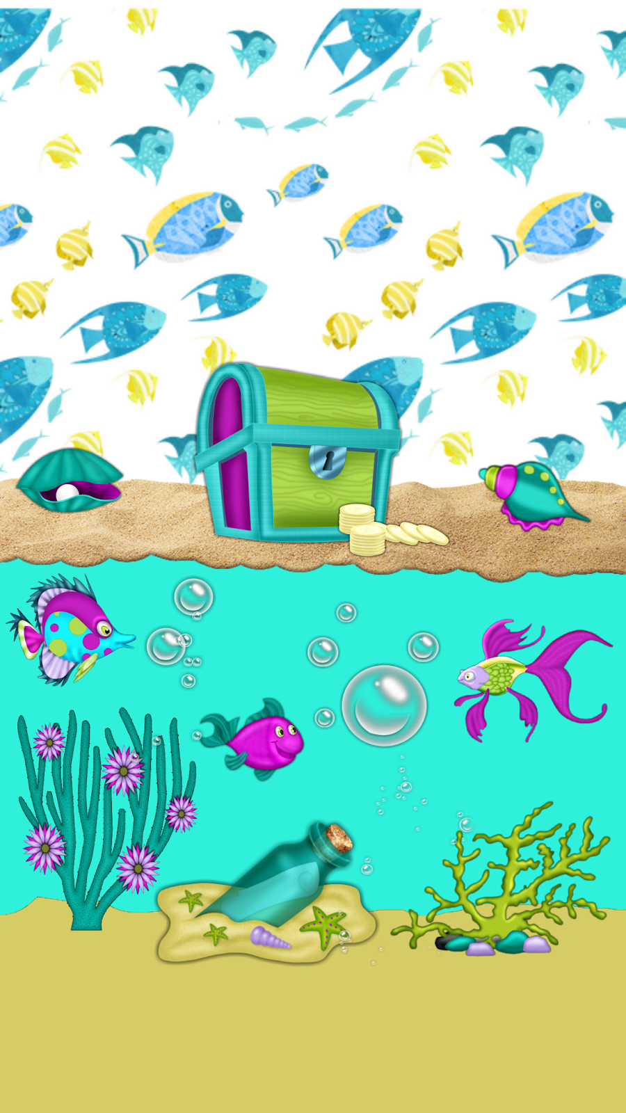 Under the sea wallpaper clipart picture royalty free download Dazzle my Droid: FREEBIE♡ Under Da Sea wallpaper collection ... picture royalty free download