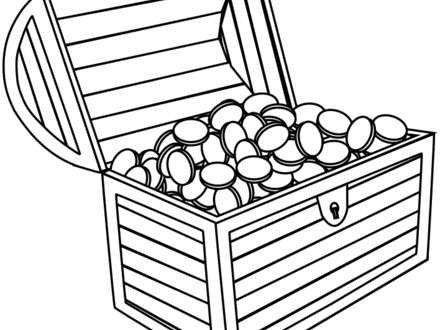 Under water treasure chest clipart black and white clip freeuse library Treasure Chest Drawing | Free download best Treasure Chest ... clip freeuse library