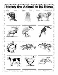 Underground animal home black and white clipart banner transparent Animal Habitat Worksheets banner transparent