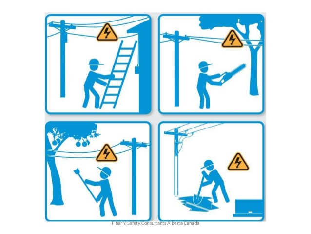 Underground cable clipart vector library download Overhead and underground power lines worker safety vector library download