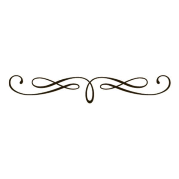 Underlining clipart png black and white download Fancy Underline Swirls Transparent ❤ liked on Polyvore ... png black and white download