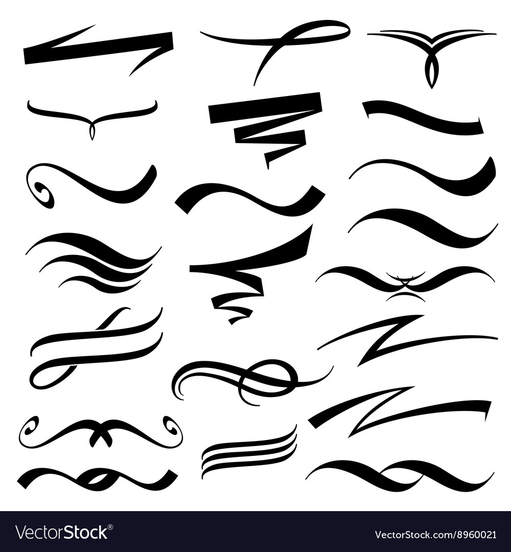 Underline vector clipart png black and white library Lettering underlines collection png black and white library