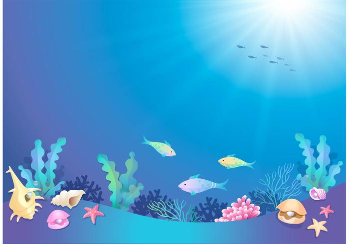 Undersea clipart svg free Free Vector Cartoon Underwater World - Download Free Vectors ... svg free