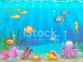 Underwater scene clipart png black and white library Underwater Scene stock vectors - Clipart.me png black and white library