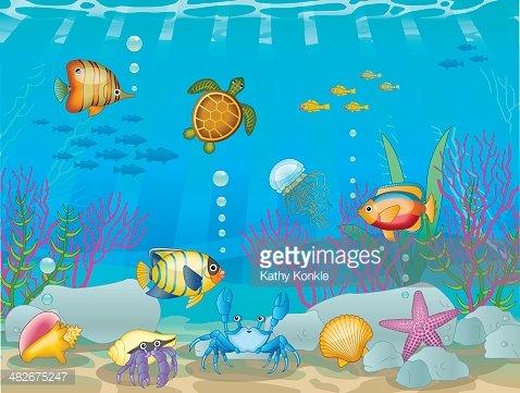 Underwater scene clipart png stock Underwater Scene premium clipart - ClipartLogo.com png stock