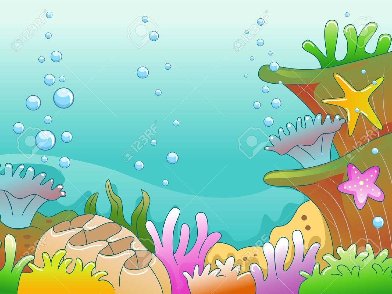 Underwater scene clipart clip transparent download Stock Illustration | Art Info in 2019 | Illustration ... clip transparent download