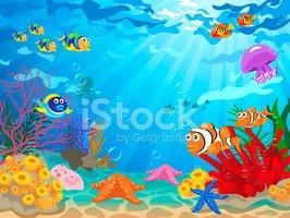 Underwater scene clipart vector free library Underwater Scene With Sea Life stock vectors - Clipart.me vector free library