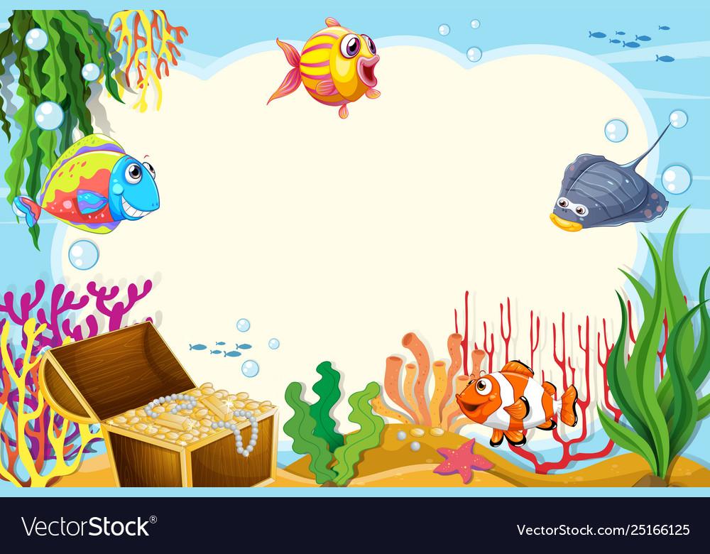 Underwater sea creatures clipart graphic transparent stock Underwater sea creature frame graphic transparent stock