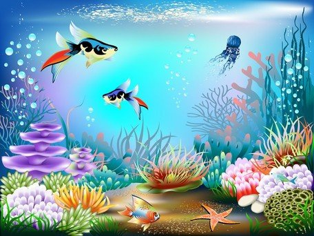 Underwater world clipart jpg black and white Free Magnificent Underwater World 02s Clipart and Vector ... jpg black and white