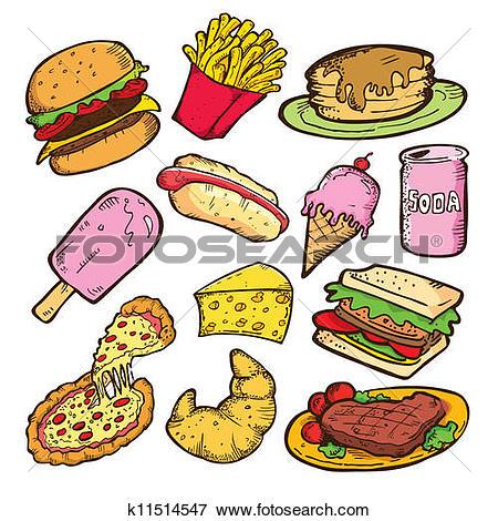 Ungesundes essen clipart clipart transparent Clip Art of Fast food icons k11463079 - Search Clipart ... clipart transparent